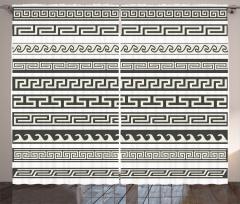Şık Etnik Aztek Desenli Fon Perde Dekoratif