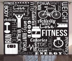 Egzersiz Zamanı Fon Perde Spor Sağlık Siyah Beyaz