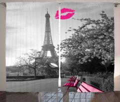 Paris'te Romantizm Fon Perde Şık Tasarım Trend
