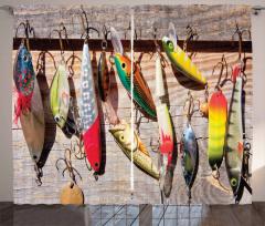 Oltaya Takılan Balıklar Fon Perde Rengarenk Deniz