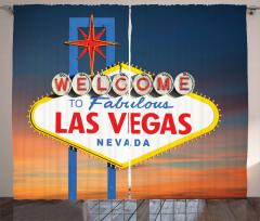 Las Vegas'ta Gün Batımı Fon Perde Turuncu Mavi