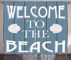 Plaja Hoş Geldiniz Fon Perde Deniz Kabuğu Mavi