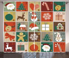 Noel Baba ve Geyik Fon Perde Yılbaşı Çam Dekoratif