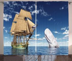 Denizdeki Dev Yelkenli Fon Perde Balık Gökyüzü