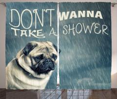 Suyu Sevmeyen Köpek Fon Perde Dekoratif Trend