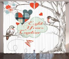 Daldaki Aşık Kuşlar Fon Perde Romantik Nostaljik