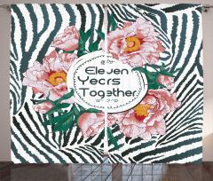 On Bir Yıllık Aşk Fon Perde Pembe Çiçek Romantik