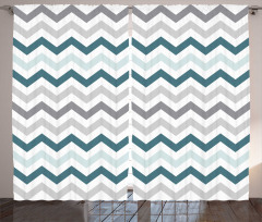 Dekoratif Zikzaklı Fon Perde Geometrik Şık Tasarım