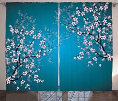Pembe Çiçekli Ağaç Fon Perde Bahar Coşkusu