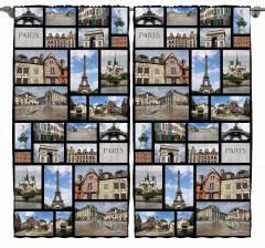 Paris ve Eyfel Desenli Fon Perde Dekoratif Şık