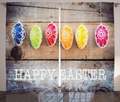 Paskalya Yumurtaları Fon Perde Rengarenk Şık