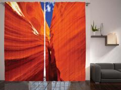 Büyük Kanyon Manzaralı Fon Perde Mavi Gökyüzü