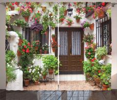 Çiçekli Kapı ve Pencere Fon Perde Dekoratif