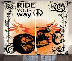Ruhu Özgür Olanlara Özel Fon Perde Motosiklet