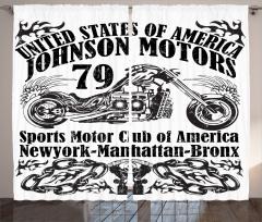 Motosiklet Posteri Etkili Fon Perde Siyah Beyaz