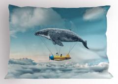 Uçak Taşıyan Yunus Yastık Kılıfı Şık Fantastik