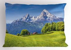 Karlı Dağ Manzaralı Yastık Kılıfı Doğada Huzur Temalı