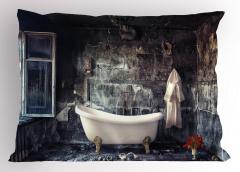 Eski Evdeki Küvet Yastık Kılıfı Nostaljik Oda