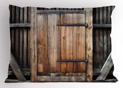 Antika Ahşap Kapı Yastık Kılıfı Bina Mimari