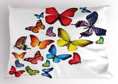 Kelebek Coşkusu Desenli Yastık Kılıfı Çeyizlik Trend