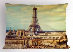 Eyfel Kulesi Manzaralı Yastık Kılıfı Paris Temalı Şık