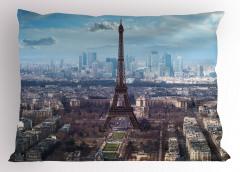 Paris ve Gökyüzü Temalı Yastık Kılıfı Şık Tasarım