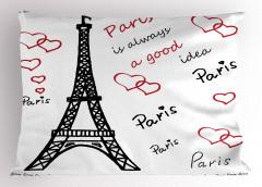 Aşk Temalı Yastık Kılıfı Paris Çeyizlik Şık Tasarım