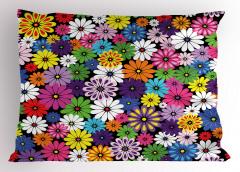 Çiçek Temalı Yastık Kılıfı Rengarenk Çeyizlik Şık