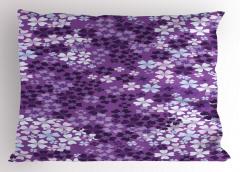 Mor Çiçek Desenli Yastık Kılıfı Çeyizlik Şık Tasarım