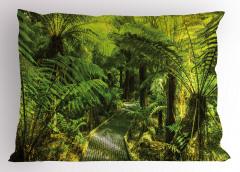 Doğa Yürüyüşü Temalı Yastık Kılıfı Yeşil Ağaç Orman
