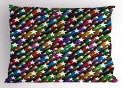 Yıldız Desenli Yastık Kılıfı Rengarenk Şık Tasarım