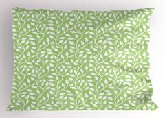 Yeşil Yaprak Desenli Yastık Kılıfı Çeyizlik Trend