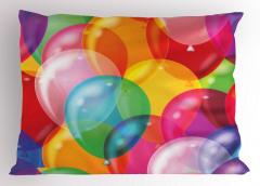 İçiçe Geçmiş Yastık Kılıfı Rengarenk Balon Desenli