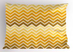 Sarı Zikzaklı Yastık Kılıfı Sarı Şık Tasarım Trend