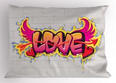 Retro Kanatlı Aşk Yastık Kılıfı Şık Romantik