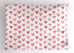 Kırmızı Pembe Kalpler Yastık Kılıfı Trend Çeyizlik