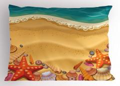 Kumsal ve Deniz Yıldızı Yastık Kılıfı Çocuk