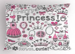 Masal Temalı Yastık Kılıfı Çocuk İçin Pembe Prenses