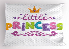 Küçük Prenses Yastık Kılıfı Rengarenk Prenses
