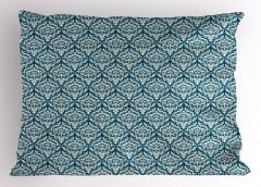 Mavi Çiçek Desenli Yastık Kılıfı Şık Tasarım Trend