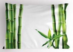 Bambu ve Yaprak Desenli Yastık Kılıfı Yeşil Trend