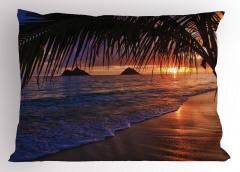 Gün Batımı Deniz Temalı Yastık Kılıfı Romantik