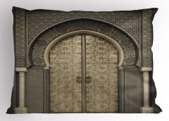 Oryantal Kapı Temalı Yastık Kılıfı Etnik Antik Şık