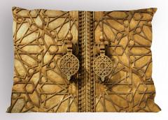 Altın Kapı Manzaralı Yastık Kılıfı Antik Arap Etnik