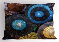 Mavi Çiçek Motifli Yastık Kılıfı Otantik Şık Tasarım
