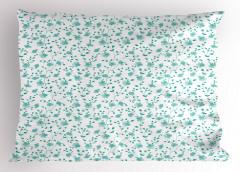 Mavi Çiçek Desenli Yastık Kılıfı Çeyizlik Şık Tasarım