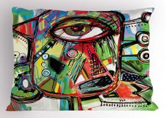 Sanat Eseri Temalı Yastık Kılıfı Rengarenk Şık Tasarım