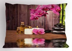 Sağlık Temalı Yastık Kılıfı Pembe Çiçek SPA Masaj