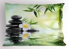 Masaj Severler İçin Yastık Kılıfı Çiçek Su Taş SPA