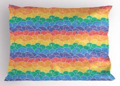 Rengarenk Dalgalar Yastık Kılıfı Şık Tasarım
